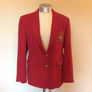 Lauren Ralph Lauren crest school blazer jacket